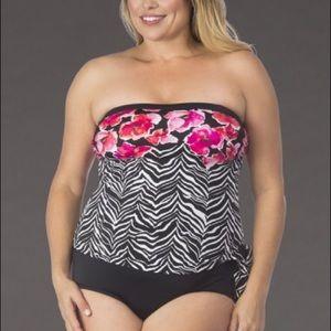 87b32de7ce6 Maxine of Hollywood Swim | Maxine Bandeau Faux Tankini | Poshmark